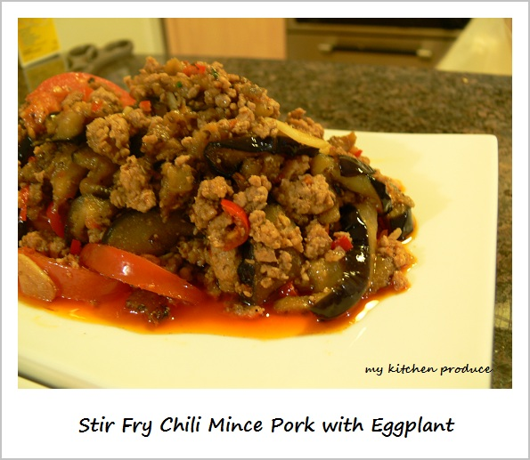 Stir Fry Chili Pork with Eggplant
