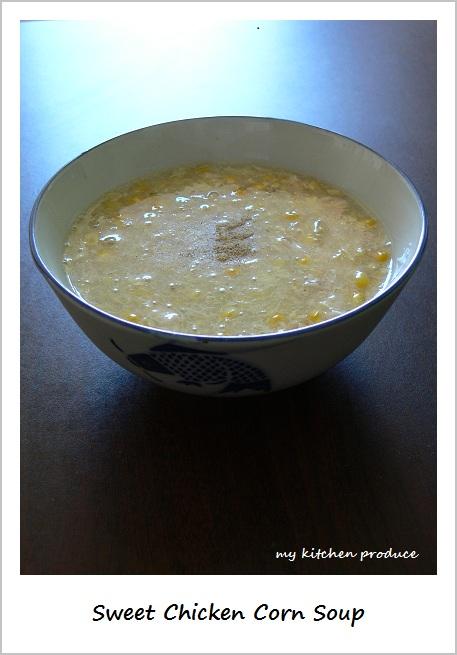 Sweet Chicken Corn Soup