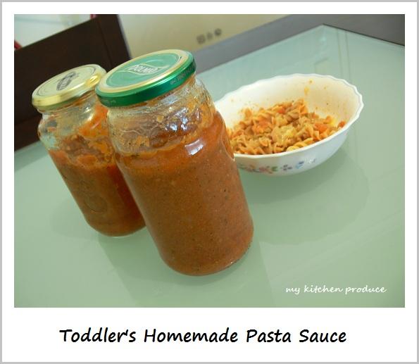 Toddler's Homemade Pasta Sauce