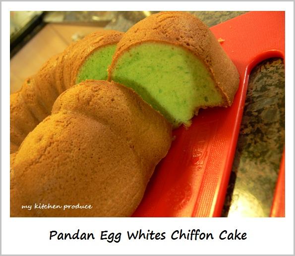 Pandan Egg Whites Chiffon Cakes