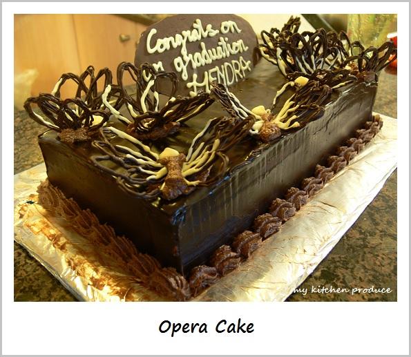 Opera Cake   My Kitchen Produce Almond Flour