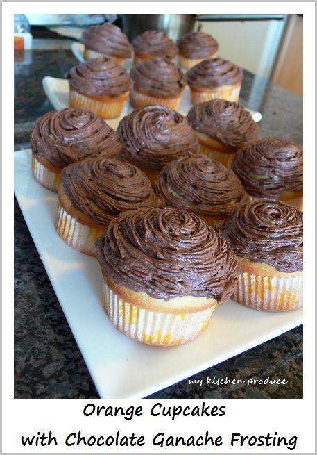 Orange Cupcakes with Chocolate Ganache Frosting