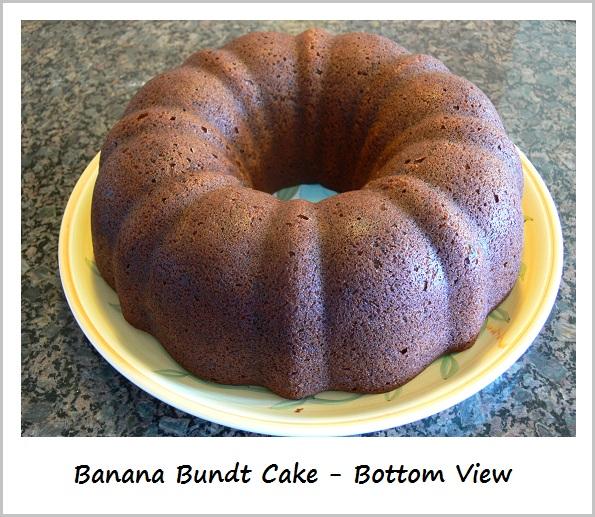Banana Bundt Cake - Bottom View