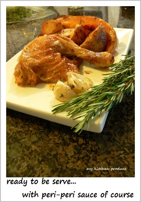 Roast Chicken with Potatoes and Butternut Pumpkin-2