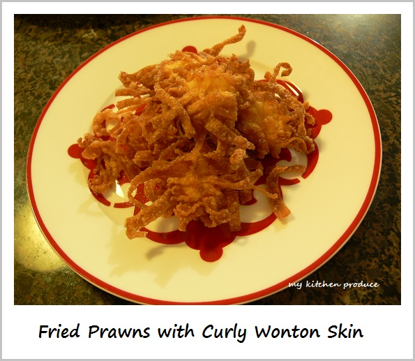 Fried Prawns with Curly Wonton Skin