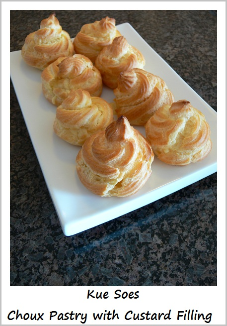 Kue Soes Choux Pastry with Custard Filling