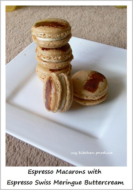 Espresso Macarons with Espresso Swiss Meringue Buttercream